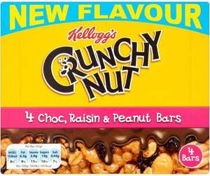 Kellogg's Chocolate Crunchy Nut, Raisin and Peanut (4 Pack = 140g) was £2.19 now £1.09 @ Tesco