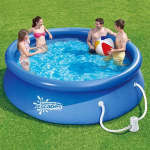Summer Escapes 10ft Quick Set Ring Pool + Water Filter Pump + Cover - £39.99 Delivered @ Costco