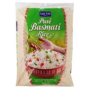 East End Pure Basmati Rice 5Kg SAVE £2.00 Was £7.00 Now £5.00 at Tesco