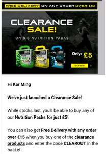 Science in Sport nutrition kits £5 (£3.99 del) @ SiS