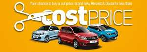 Cost price Renault and Dacia @ Pentagon motor group