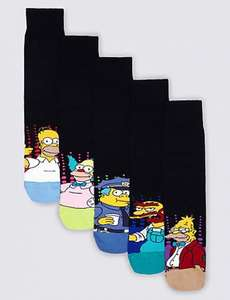 The Simpsons Socks M&S  - 5 Pairs - Gift Idea? - Was £15.00 now £4.99 Free Del to store