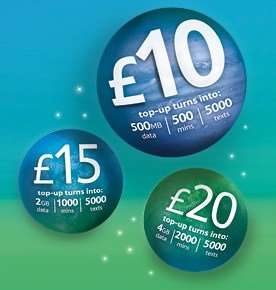 Tesco Mobile Rocket Packs - from £5 to £20