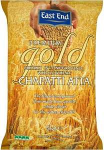 East End Premium Gold Chakki Stone Ground Wholemeal Chapatti Atta 5kg for £3 only @ Asda