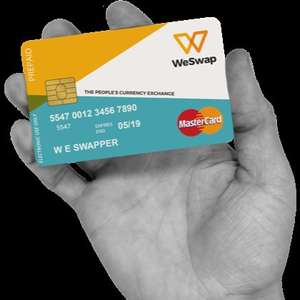 WeSwap Travel Money Card Free £10 when you add £50 - First 500 cards