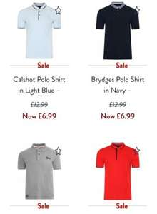 Mens Polo's delivered for £6.99 at Tokyo Laundry