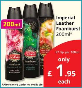 Imperial Leather Foamburst (200ml) ONLY £1.95 @ Savers