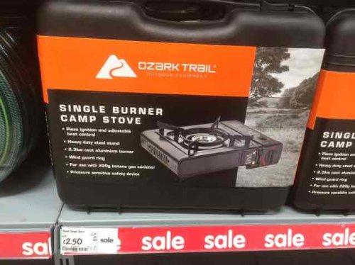 single burner camp stove £2.50 @ Asda