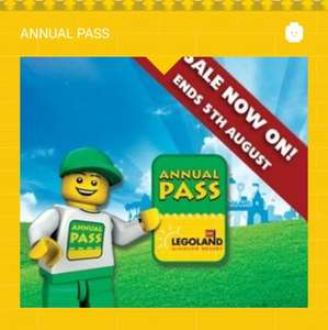 LEGOLAND annual pass sale - New £85, Renewals £70 ends 5th August