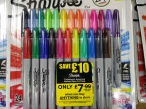 24 Sharpies £7.99  WHsmiths - When purchasing anything in the store