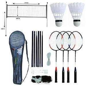 Anyone for Badminton? FiNeWaY 4 player badminton racket set with net shuttlecocks & carry case sports £11.99 delivered - Dispatched from and sold by FiNeWaY / Amazon
