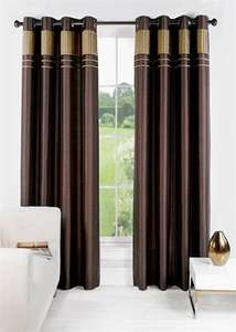 Charlotte Faux Silk Fully Lined Eyelet Curtains from £5.00 @ Matalan