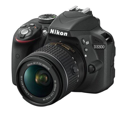 Nikon D3300 Digital SLR Camera 24.2 MP + AF-P 18-55VR Lens @ Amazon
