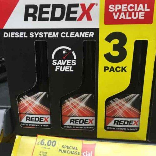 Redex diesel/petrol system cleaner 3pk £6 @Tesco Chingford