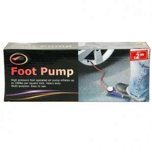 Foot Pump £1 @ poundstretcher