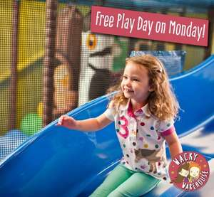 FREE PLAY DAY on Monday 25 July at Wacky Warehouse