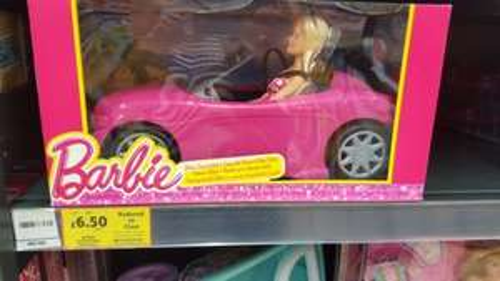 Barbie Glam  Convertible Car & Doll £6.50 @ Tesco