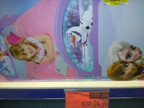 frozen toddler bed £24.99 @ B&M