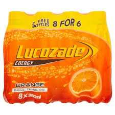 lucozade orange  bottles 8 pack £3 @ Poundland