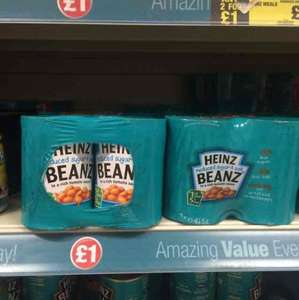 Heinz baked beans 4*415g £1 Poundland in store
