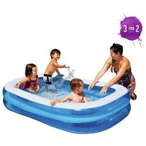 Chad Valley Rectangular Paddling Pool, 400L 7ft x 4ft+ £10.99  @ Argos