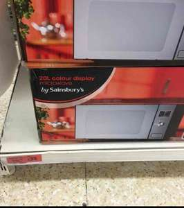 20l microwave in store @ sainsburys - £35