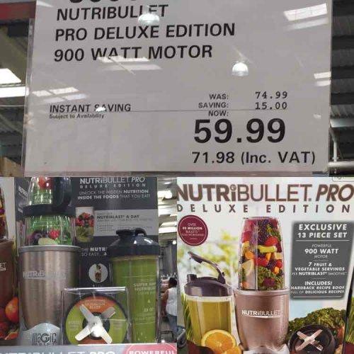 Nutribullet Pro Deluxe @ £71.98 inc vat @ Costco instore