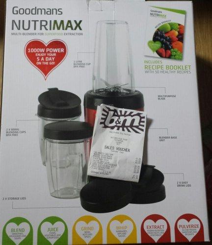 Goodmans Nutri-Max Multi-BlenderProduct Code: 310728 1000w blender £29.99 @ B&M
