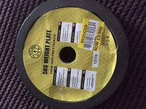 Golds Gym 5kg Cast Iron Weight Plate £2.50 Tesco (Portland)