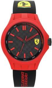 Scuderia Ferrari Mens' Pit Crew Red and Black Strap Wrist Watch £21.99 @ Argos Ebay