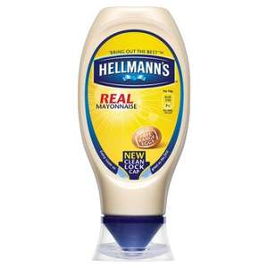 Hellmann's Real & Lite Squeezy Mayonnaise 430Ml £1.00 (Normally £2.49) @ Tesco