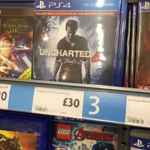 Uncharted 4 PS4 - £30 in store & Online @ Morrisons