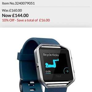 All Fitbits 10% off now £144 for Blaze at Debenhams