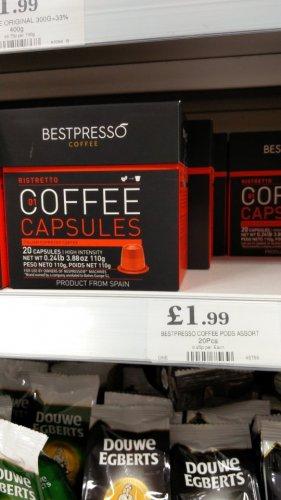 bestpresso nespresso capsules £1.99 @ Home bargains