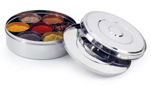 16cm Spice/Masala steel airtight container £7.08 Prime (£11.83 non-Prime) @ Amazon