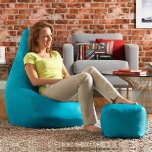 High Back Pod & FREE Footstool Aqua (was £79.99) Now £29.99 delivered Bean Bag Bazaar