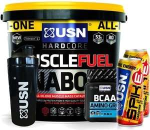 USN Muscle Fuel Anabolic 4kg + FREE Amino Gro 300g + FREE SPIKE 250ML x 2 + FREE METAL SHAKER for £49.95 + £3.99 p&p from Supplement Centre