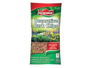 Lidl Decorative Bark Chips 35L - £1.79
