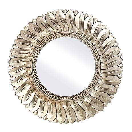 """Champagne Leaf Mirror Dia. 75cm / 30"""" £20 @ Dunelm - free c&c"""