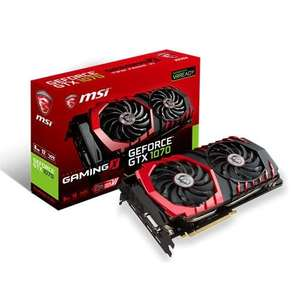 MSI NVIDIA GeForce GTX 1070 GAMING X 8GB Card £398.29 @ CCL Online