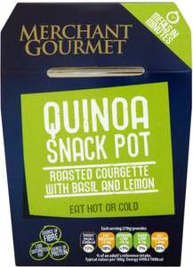 Merchant Gourmet tasty meal of nutty quinoa topped with a mix of tender courgette, sweet onions and a lemon dressing. (210g) Better Than Half Price was £2.29 now £1.00 (210g) Better Than Half Price was £2.29 now £1.00 @ Tesco
