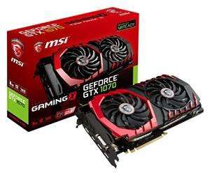 MSI Nvidia Geforce GTX 1070 Graphics Card - Black (Gaming X 8G GDDR5, 2 Fan, PCI Express 3) £422.98 @ Amazon