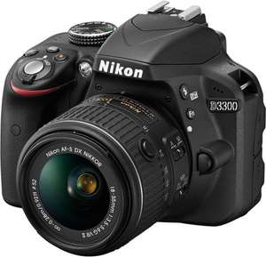 Nikon D3300 24MP DSLR Camera + 18-55mm VR II Lens £271.99 @ Argos / eBay