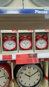 Oval alarm clock - 10p - B&M instore (linlithgow)