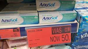 Anusol 3 way action pile and haemorrhoids cream was £2.99 now 50p b&m stores CRACKing deal