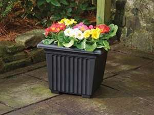 Stewart Corinthian Square Planter, 40 cm - Black/Terracotta ... £3.49 Amazon (Add on item) Min £20 spend