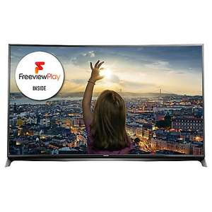 "Panasonic Viera TX-55CR852B LED Curved 4K Ultra HD 3D Smart TV, 55"" with Freeview HD/freesat HD and Built-In Wi-Fi (Reduced to clear) Was  £989.98, Now  £749.00 @ JohnLewis"