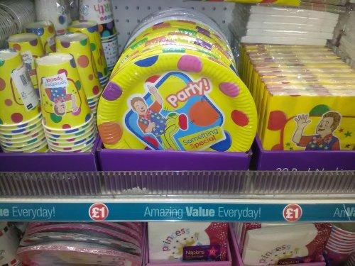 mr tumble birthday supplies £1 @ Poundland