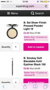 B makeup better than half price from 90p @ Superdrug