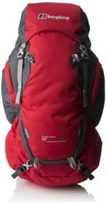 Berghaus men's trailhead 65 rucksack in extreme red/carbon rrp £90 only £24.75 - Amazon